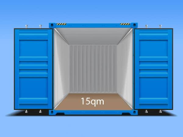 Container ideal für Akten und Möbellagerung